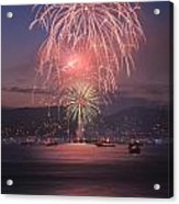 2014 4th Of July Firework Celebration.  Acrylic Print