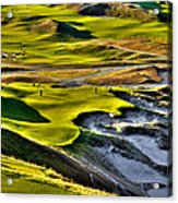 #9 At Chambers Bay Golf Course Acrylic Print by David Patterson