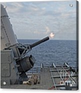 A Close-in Weapons System Is Fired Acrylic Print