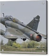 A French Air Force Mirage 2000d Taking Acrylic Print