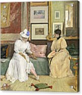 A Friendly Call Acrylic Print by William Merritt Chase
