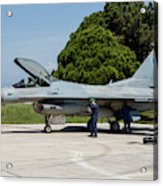 A Hellenic Air Force F-16c Block 52+ Acrylic Print