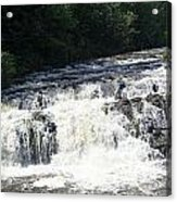 A Lovely View Of A Falls On Kayaderosseras Creek Acrylic Print