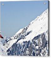 A Man Skis Untracked Powder Off-piste Acrylic Print