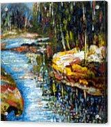 A Morning At River Bank Park Ny Acrylic Print