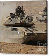A Pair Of Israel Defense Force Merkava Acrylic Print