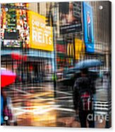 A Rainy Day In New York Acrylic Print by Hannes Cmarits