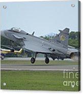 A Saab Jas 39 Gripen C Of The Royal Acrylic Print