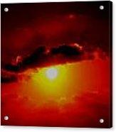 Abstract Sun Set Gran Cayman Acrylic Print