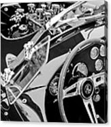 Ac Shelby Cobra Engine - Steering Wheel Acrylic Print by Jill Reger