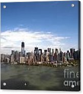 2-aerial View Of Manhattan Acrylic Print