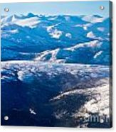 Aerial View Of Snowcapped Peaks In Bc Canada Acrylic Print