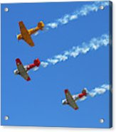 Aerobatic Display By North American Acrylic Print