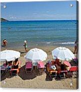 Agia Marina Beach Acrylic Print