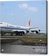 Air China Cargo Boeing 747 Acrylic Print