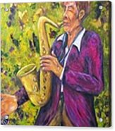 All That Jazz, Saxophone Acrylic Print