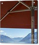 Alpine Lake With Parasol Acrylic Print
