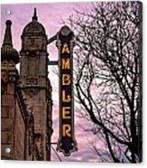 Ambler Theater Acrylic Print