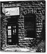 American Pool Hall Facade Version 1 Ghost Town Jerome Arizona 1968 Acrylic Print
