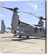 An Mv-22 Osprey Taxiing At Marine Corps Acrylic Print