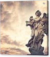 Angel In Ponte St Angelo Acrylic Print