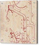 Antique Motorcycle Patent 1921 Acrylic Print
