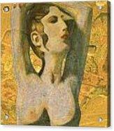 Aphrodite And Cyprus Map Acrylic Print