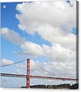 April Bridge In Lisbon Acrylic Print