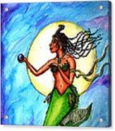 Arania Queen Of The Black Pearl Acrylic Print