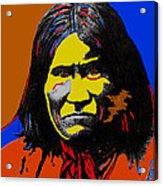 Art Homage Andy Warhol Geronimo 1887-2009 Acrylic Print