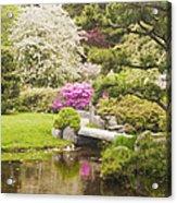 Asticou Azelea Garden - Northeast Harbor - Mount Desert Island - Maine Acrylic Print