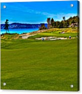 #2 At Chambers Bay Golf Course - Location Of The 2015 U.s. Open Championship Acrylic Print by David Patterson