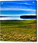 #2 At Chambers Bay Golf Course - Location Of The 2015 U.s. Open Tournament Acrylic Print by David Patterson