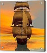 At Full Sail Acrylic Print