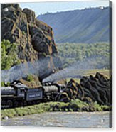 At Point Of Rocks-bound For Yellowstone Acrylic Print