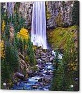 Autumn At Tumalo Falls Acrylic Print