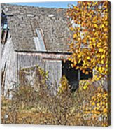 Autumn Barn Acrylic Print