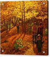 Autumn Bush Creek Track  Acrylic Print