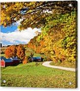 Autumn Farm Acrylic Print