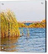 Autumn On The Dnieper River Acrylic Print