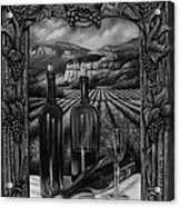 Bacchus Vineyard Acrylic Print by Ricardo Chavez-Mendez