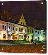 Bardejov At Night Acrylic Print
