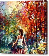 Barefooted Stroll Acrylic Print