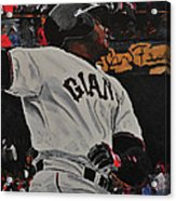 Barry Bonds World Record Breaking Home Run Acrylic Print