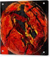 Basketball Abstract Acrylic Print