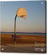 Basketball Goal At Sandy Point Acrylic Print