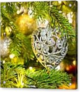 Bauble In A Christmas Tree  Acrylic Print