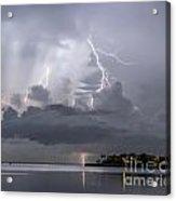Bay Street Lightning Acrylic Print