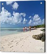 Beach At Coco Cay Acrylic Print by Amy Cicconi