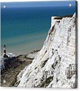 Beachy Head Cliffs And Lighthouse  Acrylic Print